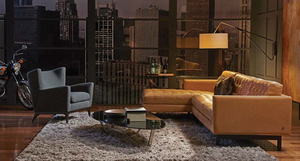 Leather Furniture Stores Cigar Leather Sofa Yellow